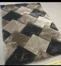 3D RUGS HAND CARVED APPROX 8X5FT 160X230CM GREAT QUALITY 3D RUG SILVER-GREY